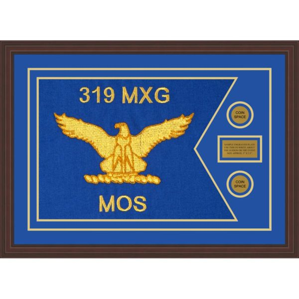 "Air Force 28"" x 20"" Guidon Design 2820-D1-M6 Framed"