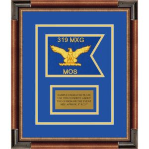 "Air Force 7"" x 5"" Guidon Design75-D1-M1 Framed"