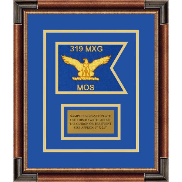 """Air Force 7"""" x 5"""" Guidon Design75-D1-M1 Framed"""