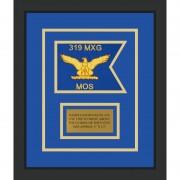 """Air Force 7"""" x 5"""" Guidon Design75-D1-M2 Framed"""