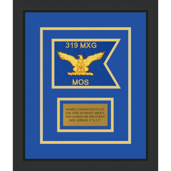 "Air Force 7"" x 5"" Guidon Design75-D1-M2 Framed"