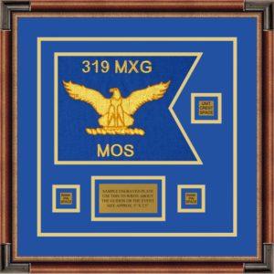 """Air Force 12"""" x 9"""" Guidon Design 129-D2-M1 Framed"""