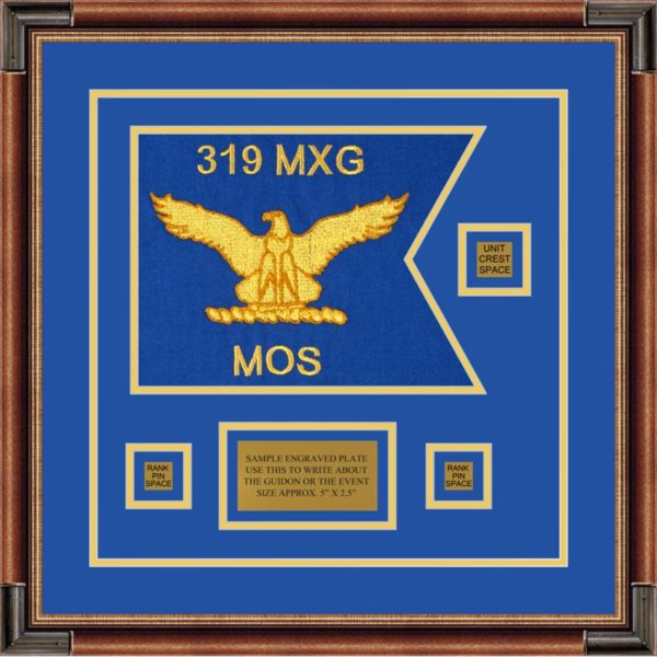 "Air Force 12"" x 9"" Guidon Design 129-D2-M1 Framed"
