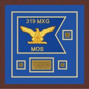 "Air Force 12"" x 9"" Guidon Design 129-D2-M3 Framed"