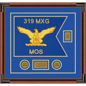 "Air Force 20"" x 15"" Guidon Design 2015-D2-M4 framed"