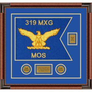 """Air Force 20"""" x 15"""" Guidon Design 2015-D2-M4 framed"""