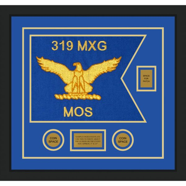 "Air Force 20"" x 15"" Guidon Design 2015-D2-M5 Framed"