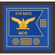 """Air Force 20"""" x 15"""" Guidon Design 2015-D2-M6 Framed"""