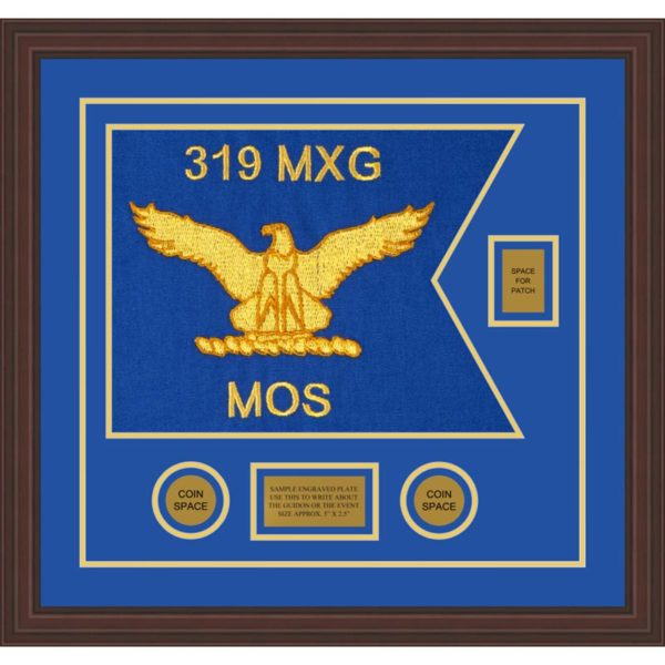 "Air Force 20"" x 15"" Guidon Design 2015-D2-M6 Framed"