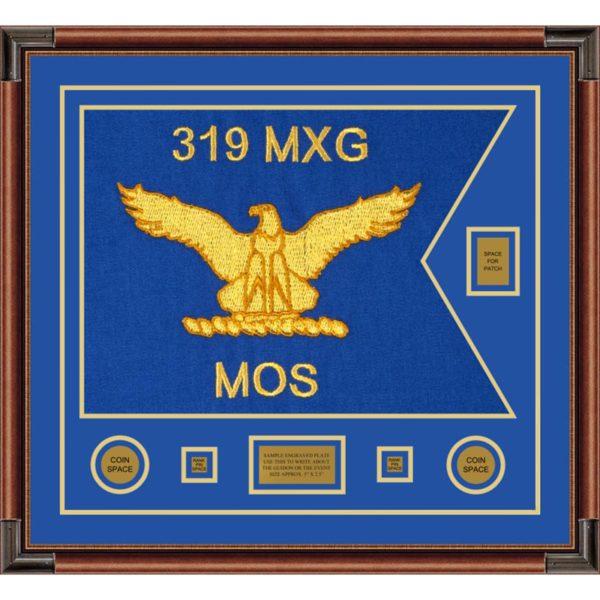 """Air Force 28"""" x 20"""" Guidon Design 2820-D2-M4 Framed"""