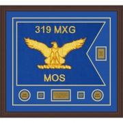 """Air Force 28"""" x 20"""" Guidon Design 2820-D2-M6 Framed"""