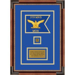 """Air Force 7"""" x 5"""" Guidon Design 75-D2-M1 Framed"""