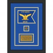 """Air Force 7"""" x 5"""" Guidon Design 75-D2-M2 Framed"""