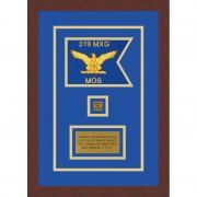 """Air Force 7"""" x 5"""" Guidon Design 75-D2-M3 Framed"""