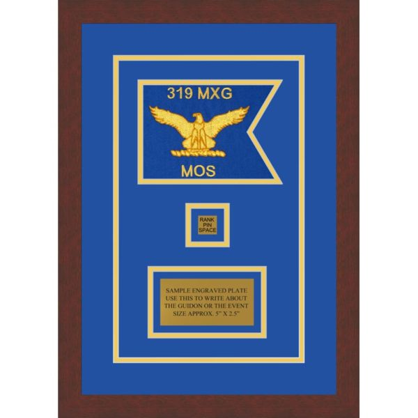 "Air Force 7"" x 5"" Guidon Design 75-D2-M3 Framed"