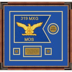 """Air Force 12"""" x 9"""" Guidon Design 129-D3-M1 Framed"""