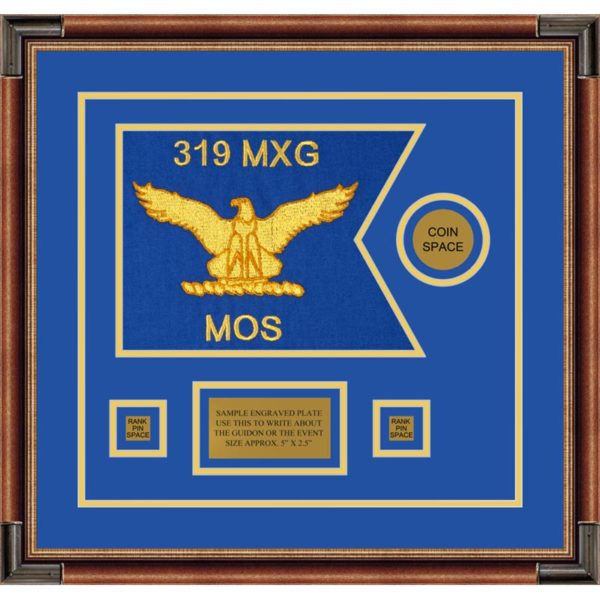 "Air Force 12"" x 9"" Guidon Design 129-D3-M1 Framed"