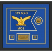 "Air Force 12"" x 9"" Guidon Design 129-D3-M2 Framed"