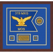 "Air Force 12"" x 9"" Guidon Design 129-D3-M3 Framed"