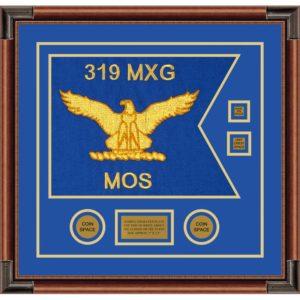 """Air Force 20"""" x 15"""" Guidon Design 2015-D3-M4 Framed"""
