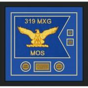 """Air Force 20"""" x 15"""" Guidon Design 2015-D3-M5 Framed"""