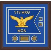 """Air Force 20"""" x 15"""" Guidon Design 2015-D3-M6 Framed"""