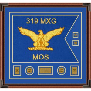 """Air Force 28"""" x 20"""" Guidon Design 2820-D3-M4 Framed"""