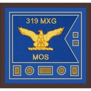 """Air Force 28"""" x 20"""" Guidon Design 2820-D3-M6 Framed"""