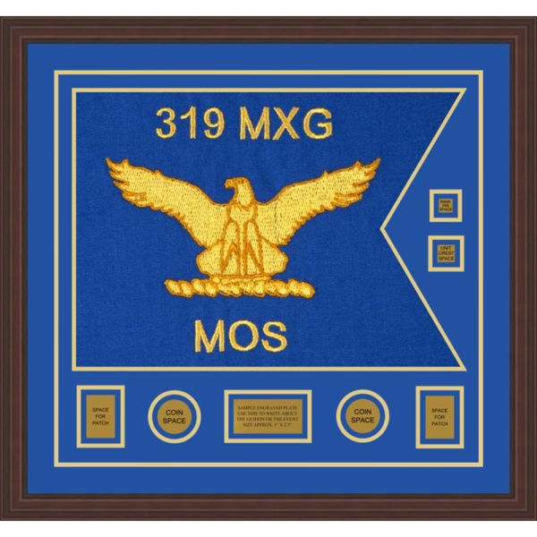 "Air Force 28"" x 20"" Guidon Design 2820-D3-M6 Framed"
