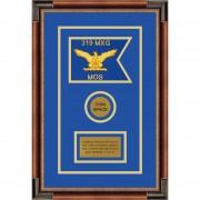 """Air Force 7"""" x 5"""" Guidon Design 75-D3-M1 Framed"""