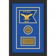"""Air Force 7"""" x 5"""" Guidon Design 75-D3-M2 Framed"""