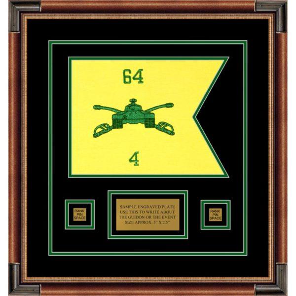 "Armor Corps 12"" x 9"" Guidon Design 129-D1-M1 Framed"