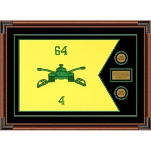 "Armor Corps 28"" x 20"" Guidon Design 2820-D1-M4 Framed"