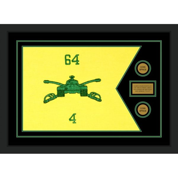 "Armor Corps 28"" x 20"" Guidon Design 2820-D1-M5 Framed"