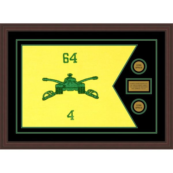 "Armor Corps 28"" x 20"" Guidon Design 2820-D1-M6 Framed"
