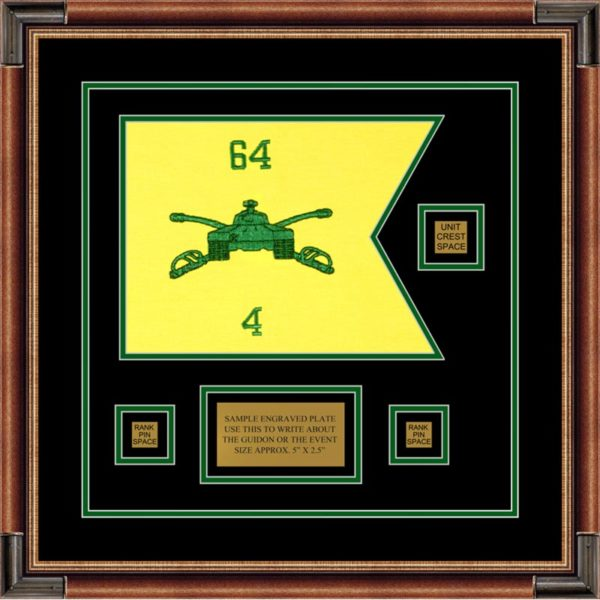 "Armor Corps 12"" x 9"" Guidon Design 129-D2-M1 Framed"