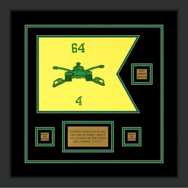 "Armor Corps 12"" x 9"" Guidon Design 129-D2-M2 Framed"