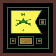 "Armor Corps 12"" x 9"" Guidon Design 129-D2-M3 Framed"