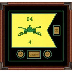 "Armor Corps 20"" x 15"" Guidon Design 2015-D2-M4 Framed"