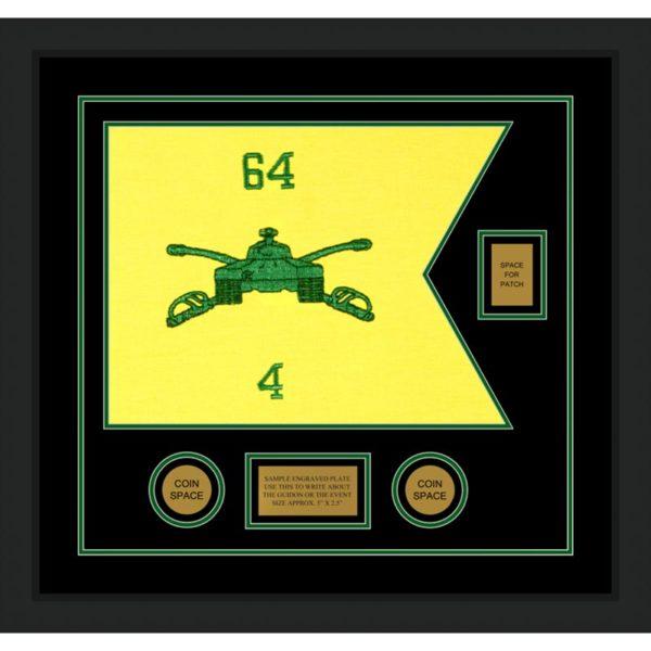 "Armor Corps 20"" x 15"" Guidon Design 2015-D2-M5 Framed"