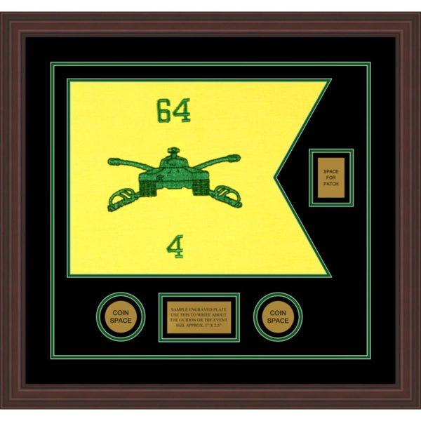 "Armor Corps 20"" x 15"" Guidon Design 2015-D2-M6 Framed"