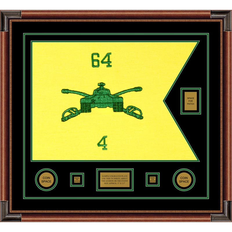 "Armor 28"" x 20"" Guidon Design 2820-D2-M4 Framed"
