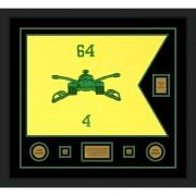 "Armor Corps 28"" x 20"" Guidon Design 2820-D2-M5 Framed"