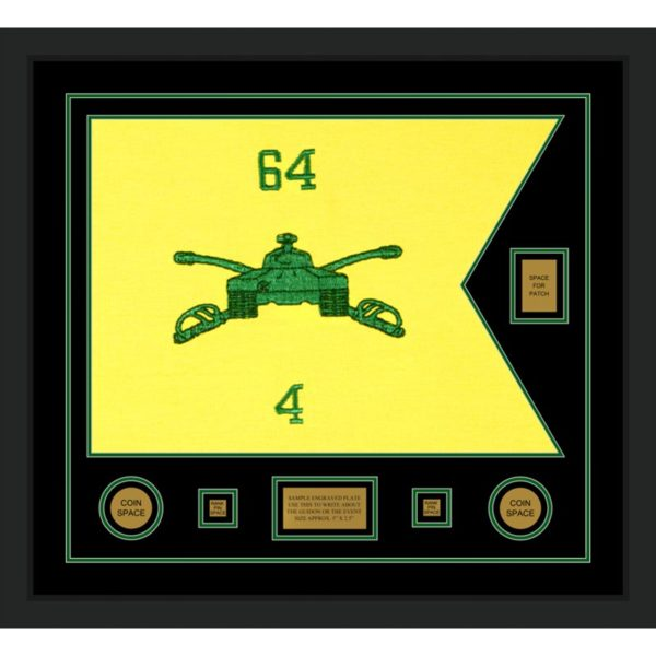 "Armor Corps 28"" x 20"" Guidon Design 2820-D2-M5 Framed"