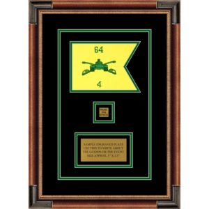 "Armor Corps 7"" x 5"" Guidon Design 75-D2-M1 Framed"