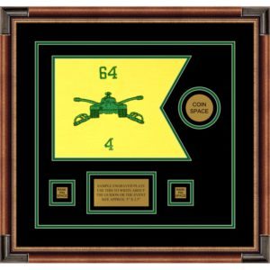 "Armor Corps 12"" x 9"" Guidon Design 129-D3-M1 Framed"