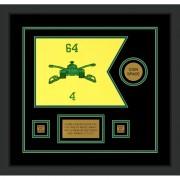 "Armor Corps 12"" x 9"" Guidon Design 129-D3-M2 Framed"