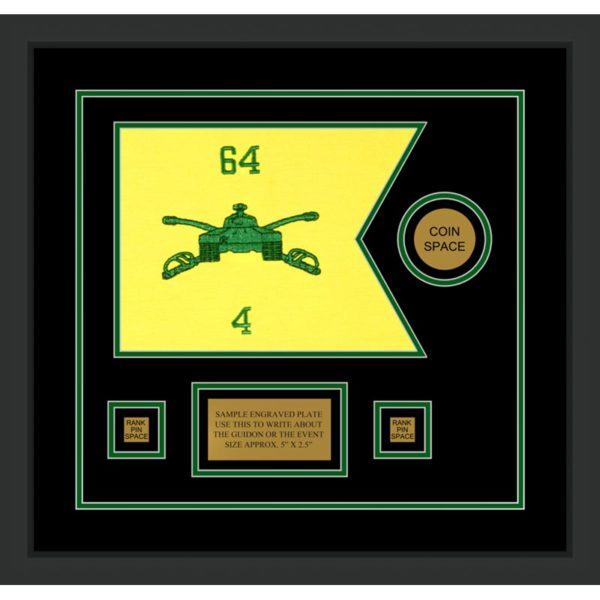 "Armor Corps 12"" x 9"" Guidon Design 129-D3-M2 Framed"