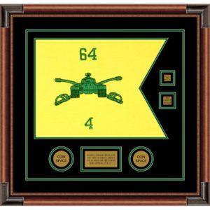 "Armor Corps 20"" x 15"" Guidon Design 2015-D3-M4 Framed"