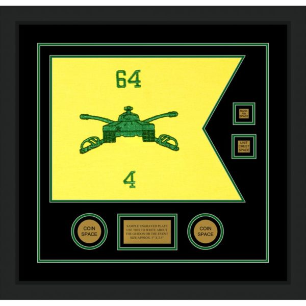 "Armor Corps 20"" x 15"" Guidon Design 2015-D3-M5 Framed"